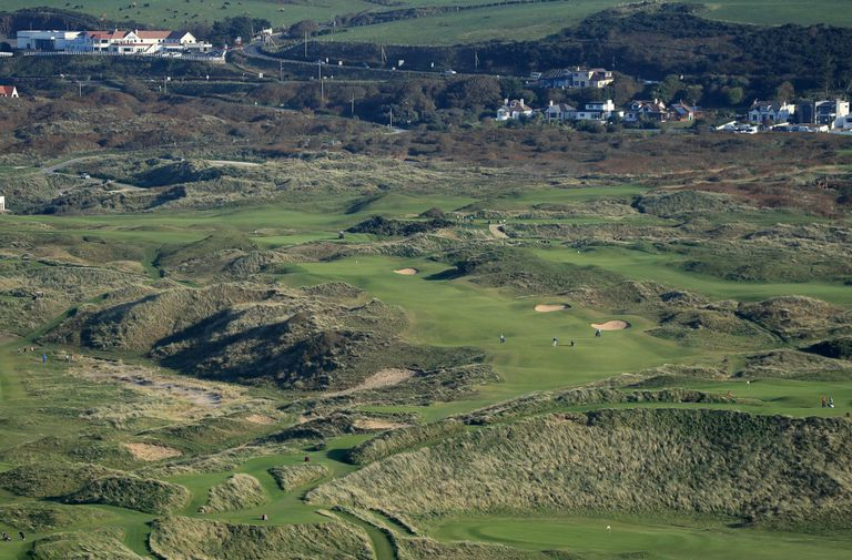Looking across the links at Royal Portrush