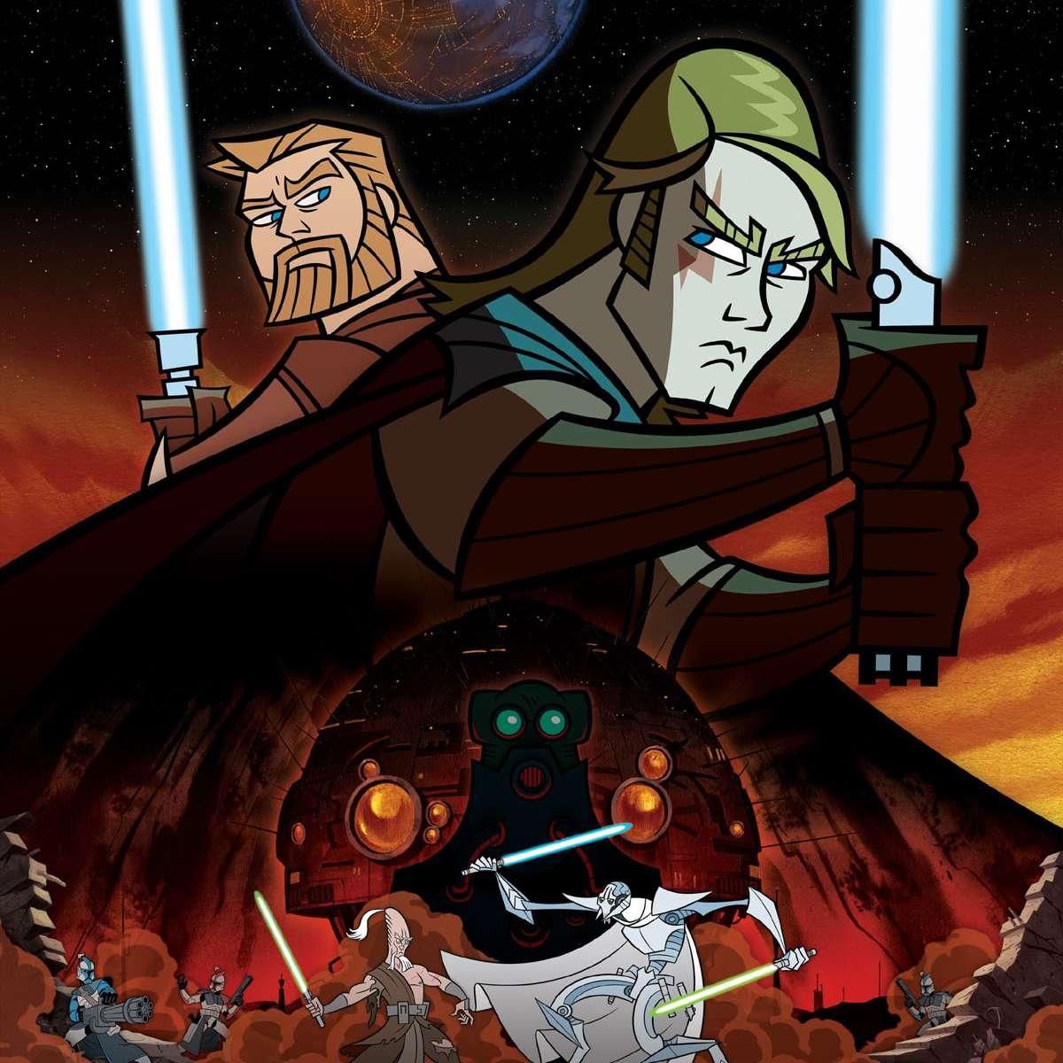 'Clone Wars' Obi-Wan Kenobi and Anakin Skywalker
