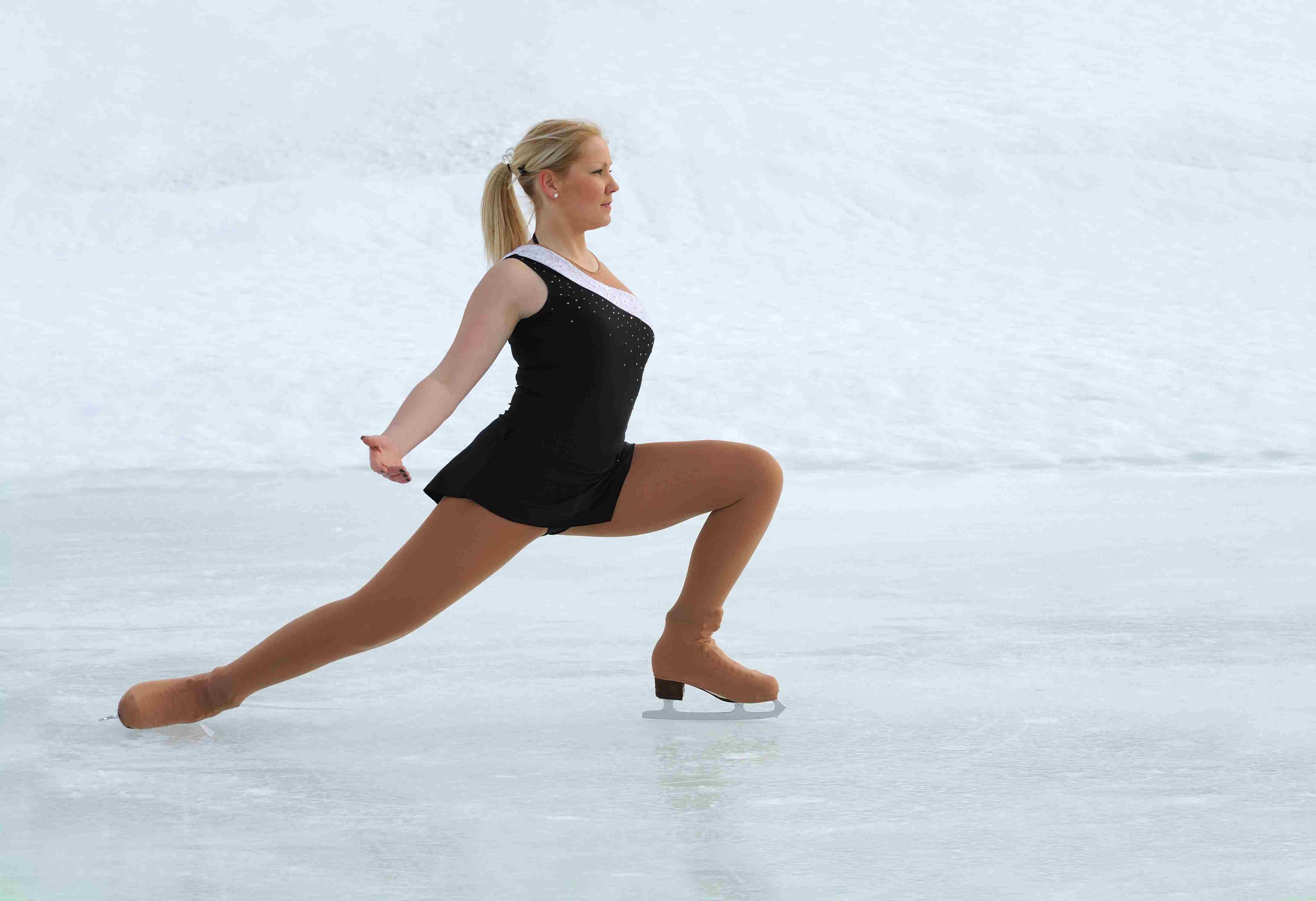 A Figure Skater Skates to Music