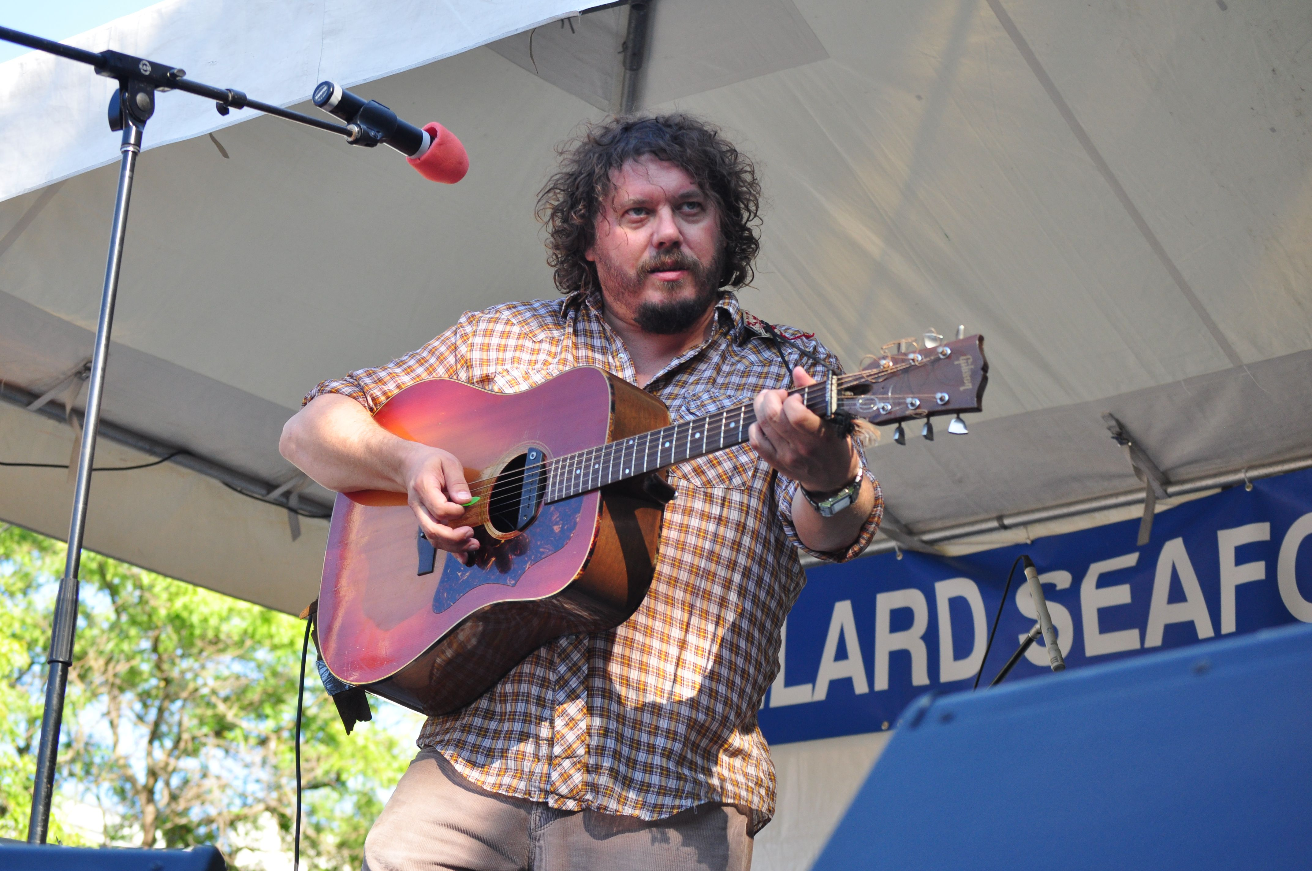 Bobby Bare Jr. performs at an outdoor concert