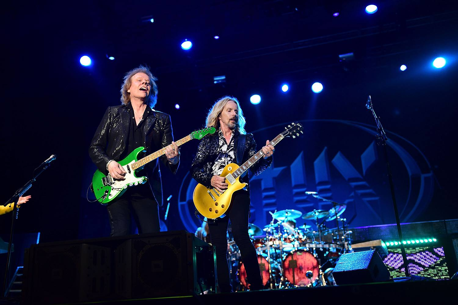 James 'J.Y.' Young and Tommy Shaw of the band Styx