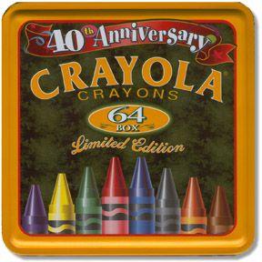 40th Anniversary Crayola Tin