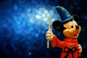 Mickey Mouse as he appeared in The Sorcerer's Apprentice segment of the film Fantasia.