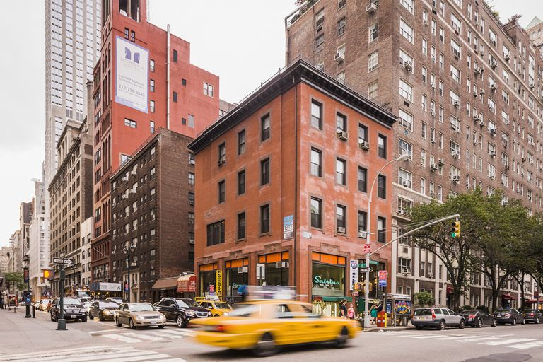 Midtown Manhattan, Madison Avenue and East 36th street full color photograph.