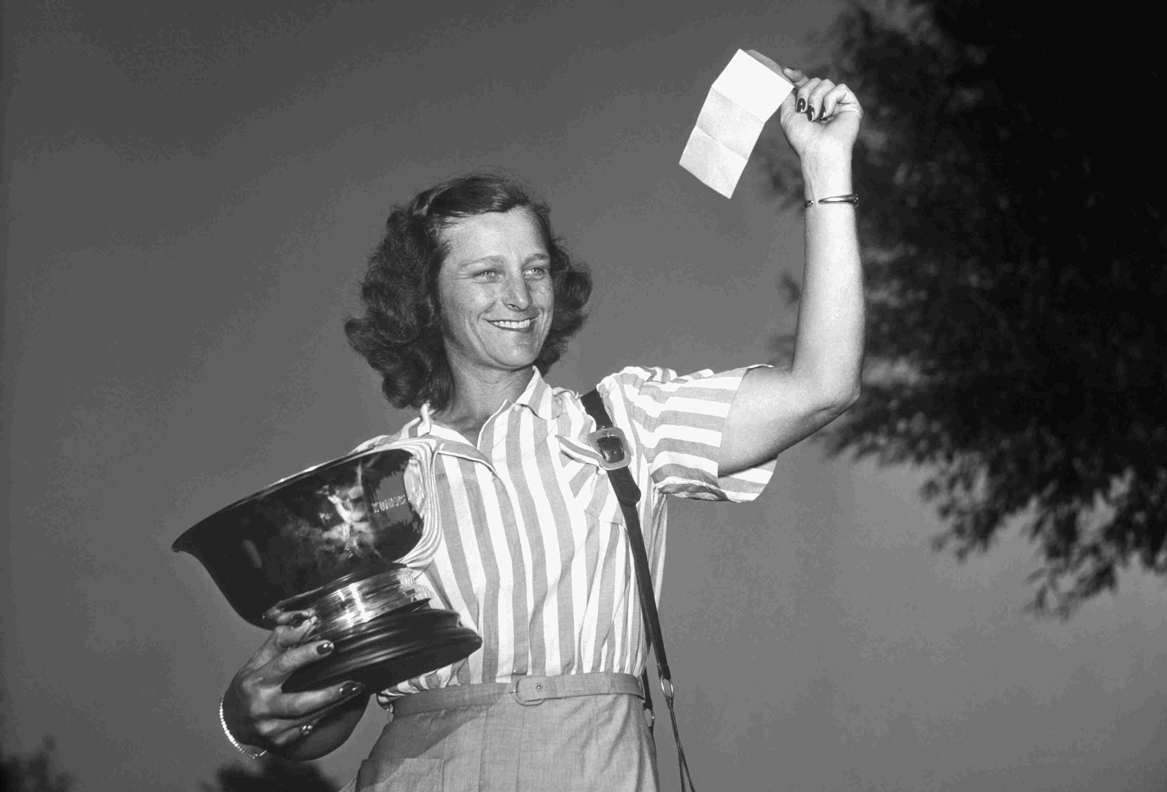 Babe Zaharias after winning the 1948 US Women's Open.