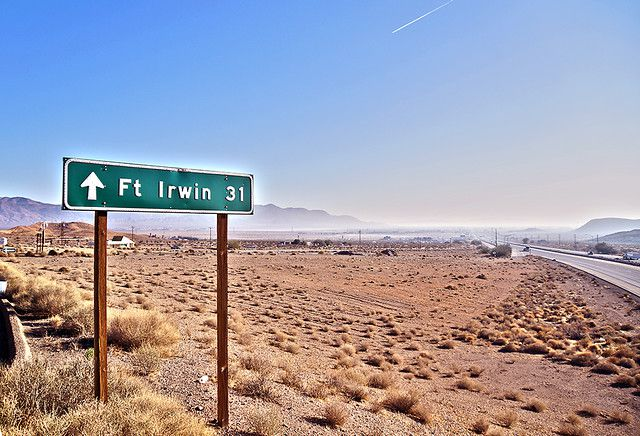 Road to Ft Irwin