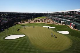 Wide-angle view of 16th hole at PGA Tour Phoenix Open