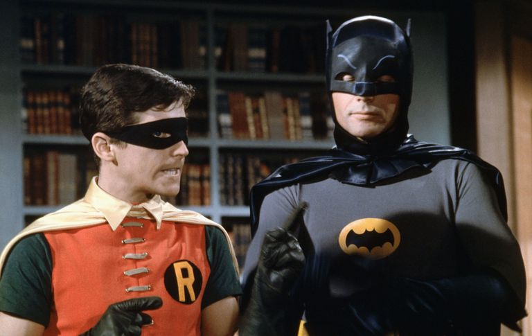 Batman and Robin on the 1960s-era TV show.