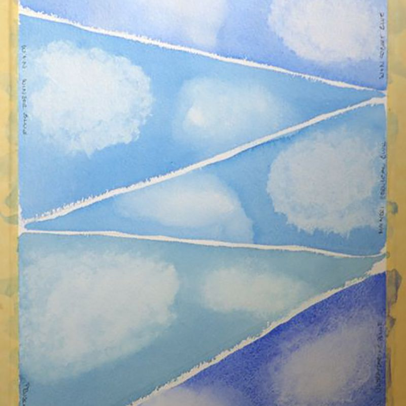 Paint Clouds in Watercolor