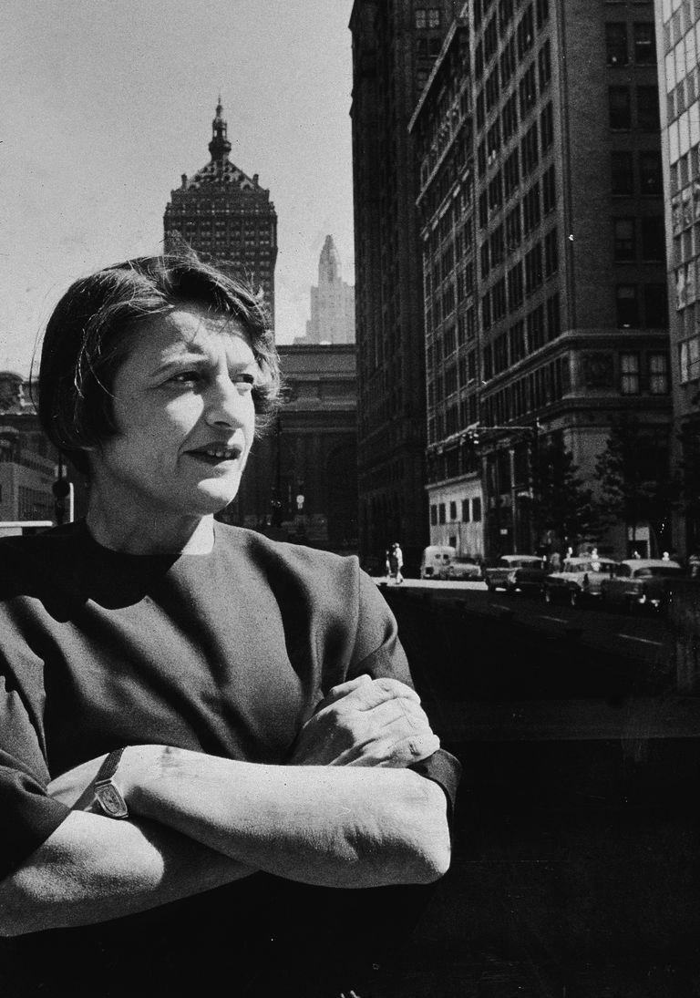 Author Ayn Rand On City Street