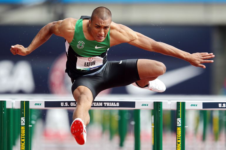 Ashton Eaton broke the decathlon world record at the 2012 U.S. Olympic Trials.