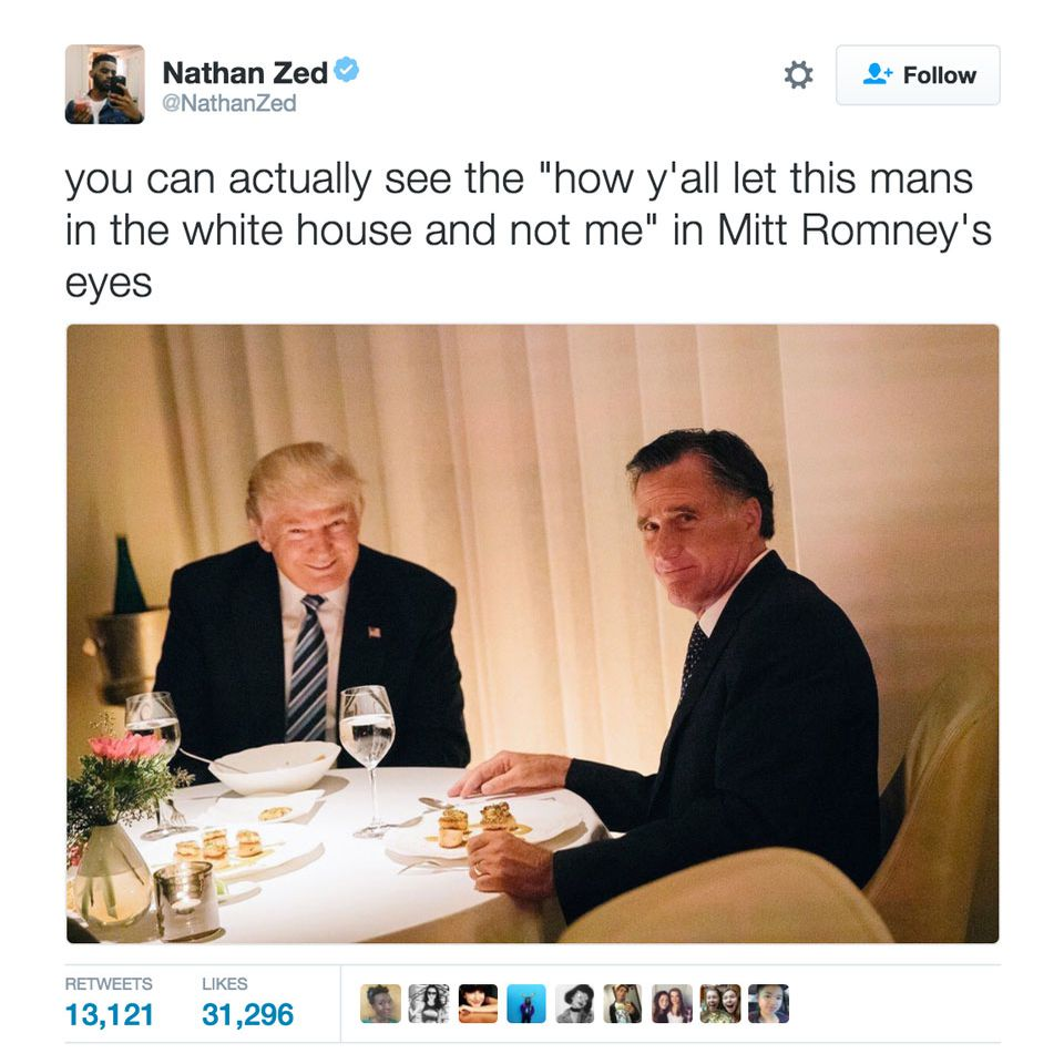 Mitt Romney - Trump meme