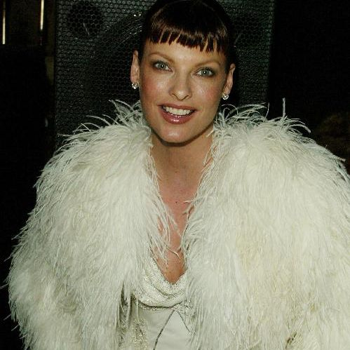 Model Linda Evangelista attends the Christian Dior Couture sponsored party 'An Evening of Nouveau Glamour' at The Frick Collection February 6, 2003 in New York City.