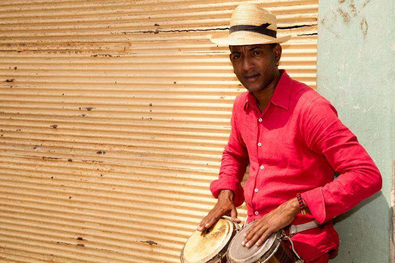 Professional Cuban Conga Drum Player, Havana, Cuba
