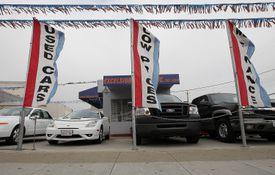 used car lot