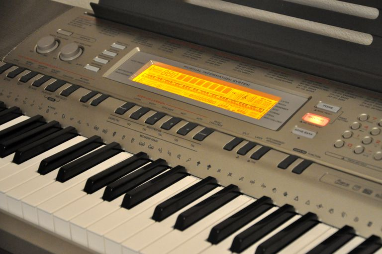 Closeup of Casio WK-200 keyboard