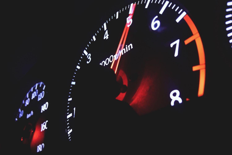 instrument cluster tachometer, engine rpm