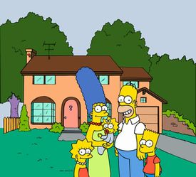 The Simpson Family and Their House