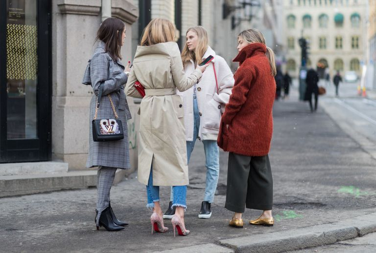 Group Talking During Fashion Week