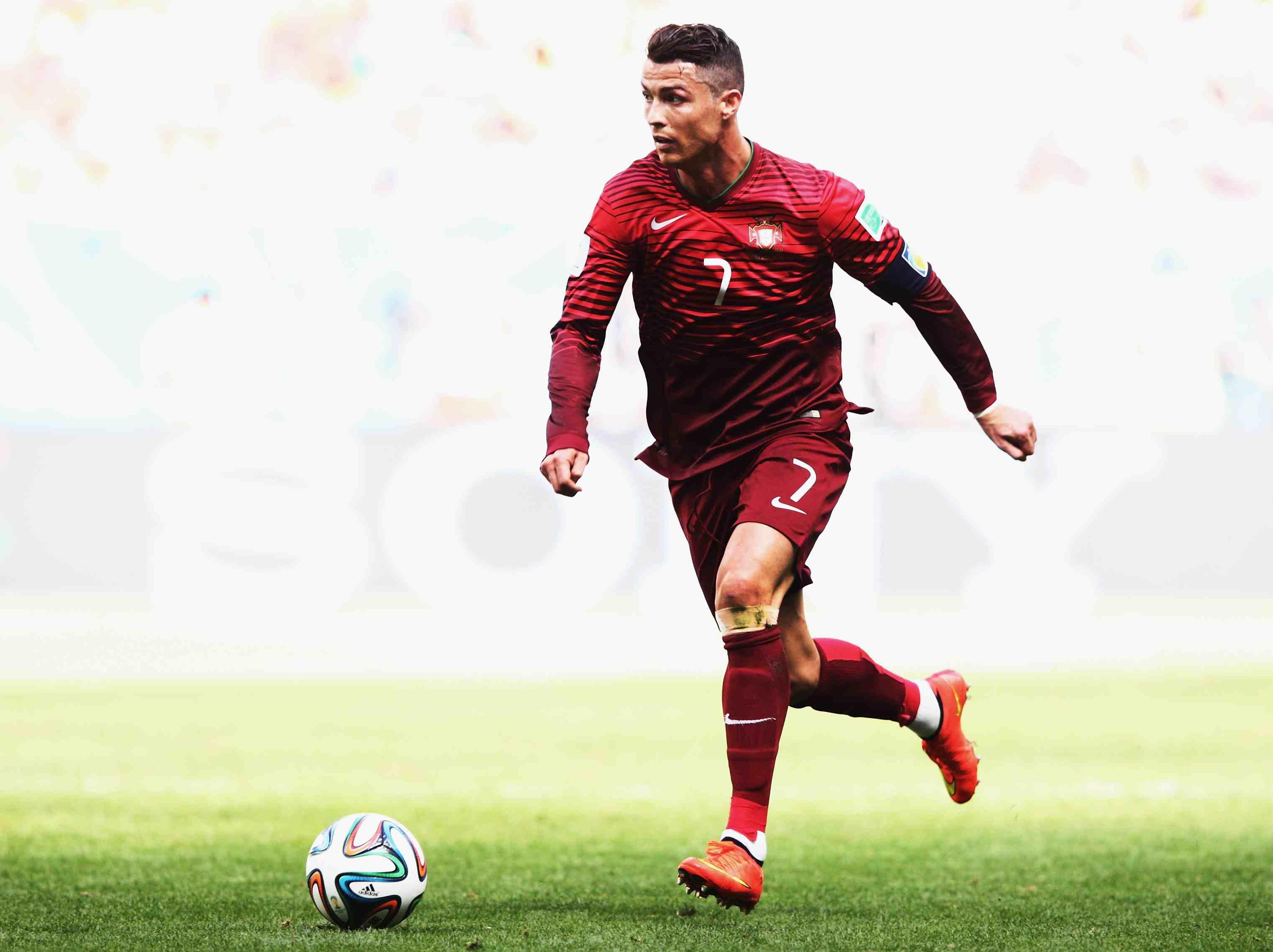 Cristiano Ronaldo playing against Ghana
