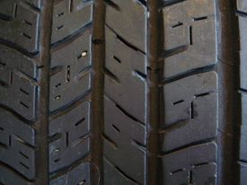 An example of good tire tread