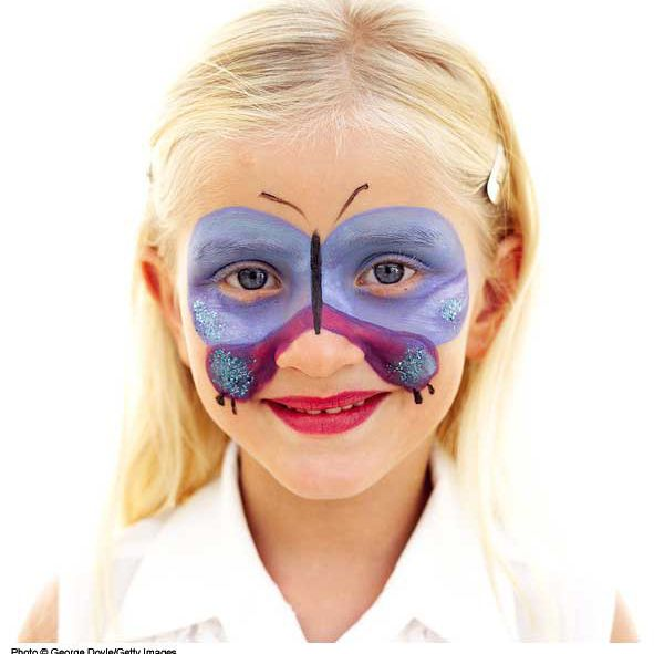 Face painting designs butterfly