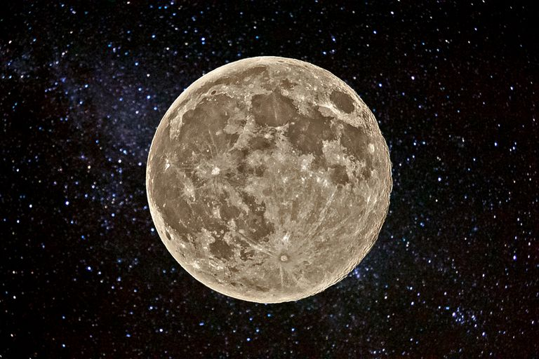 Moon with background of stars