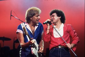 Air Supply on tour in the U.S. in 1983 (Graham Russell (l) and Russell Hitchcock).