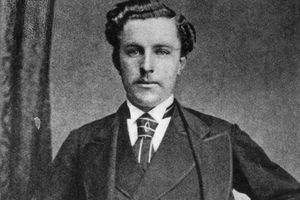 Young Tom Morris photographed in 1870.