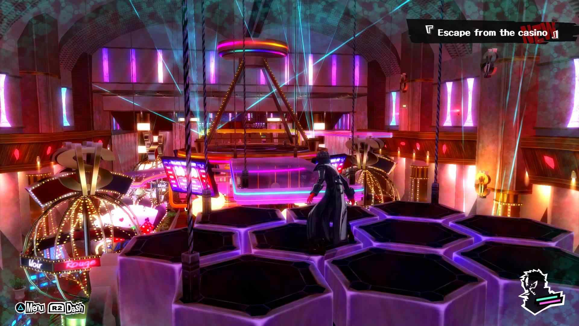 The Phantom Theif infiltrates a casino in Persona 5.