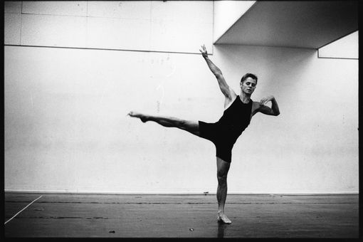 Mikhail Baryshnikov rehearsing in New York City in 1993