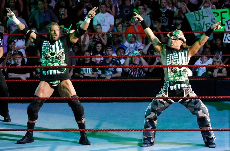 Triple H and Shawn Michaels battled one another in the first 3 Stages of Hell Match.