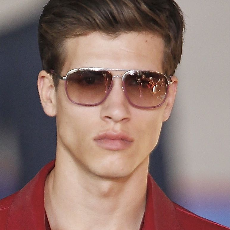 Men\'s Brushed Back Hairstyles, A Gallery
