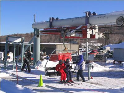 Getting on the Chairlift