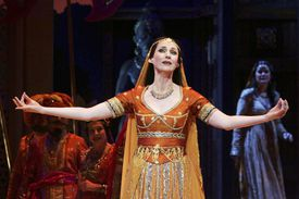 Leanne Kenneally performs during Leo Delibes' 'Lakme' dress rehearsal at the Opera Theatre of the Sydney Opera House.