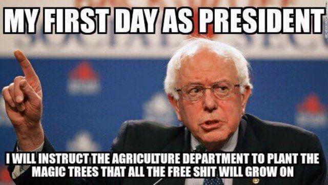 Bernie Sanders Frist Day as President