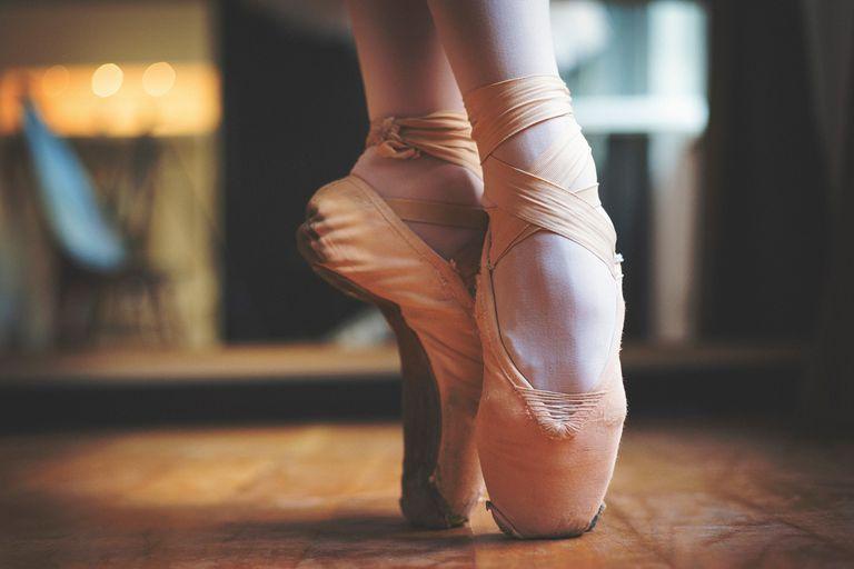 Ballet feet pose