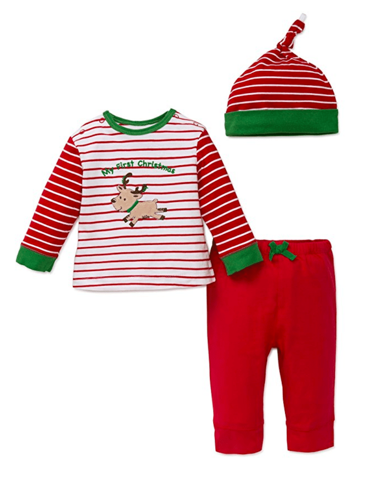 Little Me Baby Boys  First Christmas Jogger Set and Hat. Amazon.com 13d59ec13