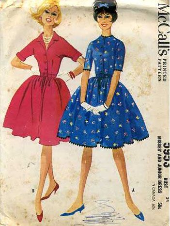 974f1927a0a2e Vintage 50s Dress Patterns and Instructions