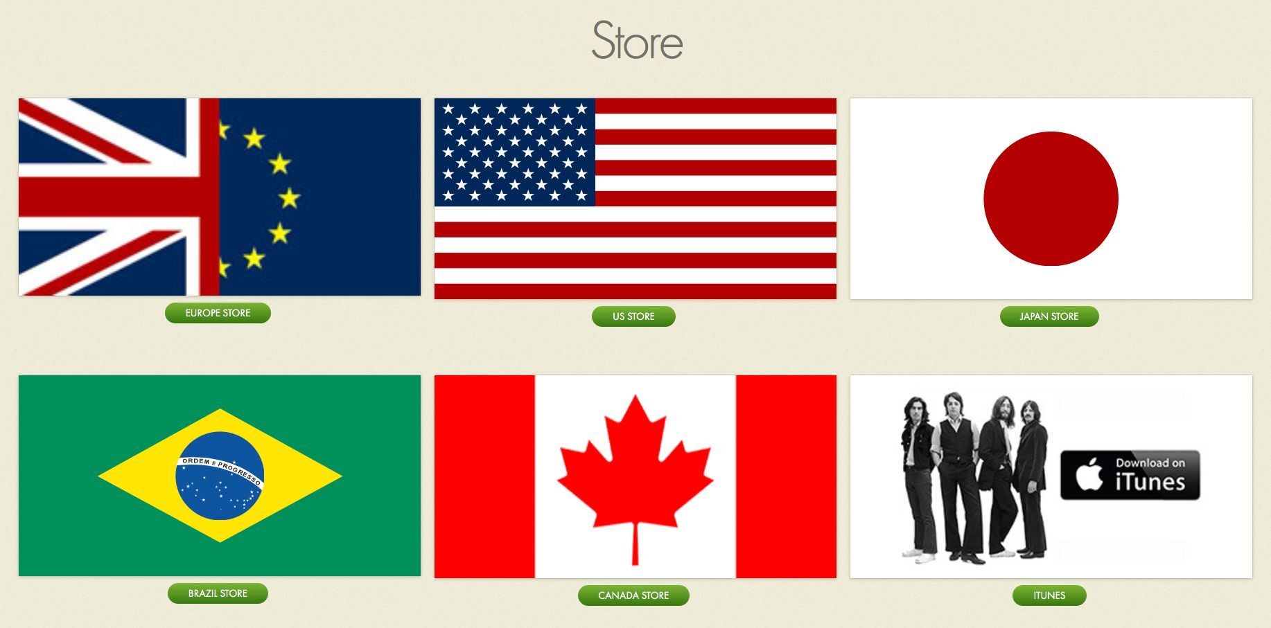 Beatles Official Site Store