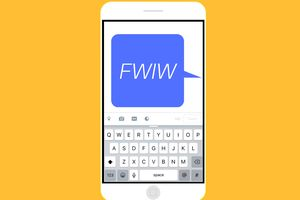 An image graphic of a text message saying,