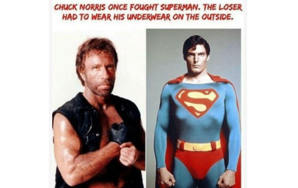 chuck norris superman meme