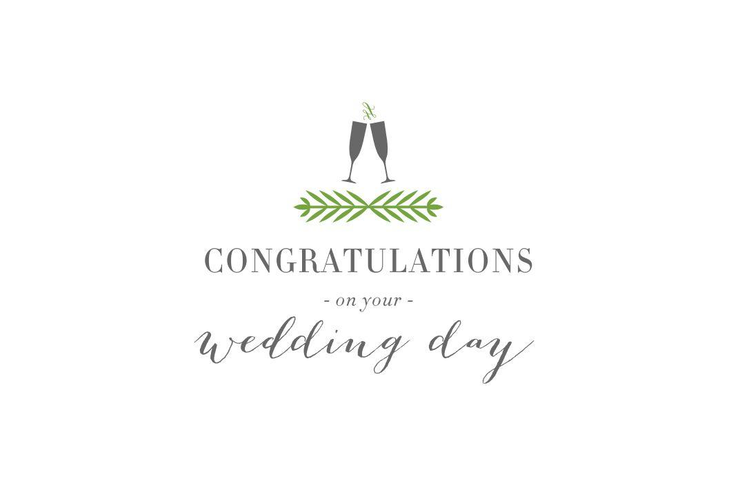 A green and gray printable wedding card