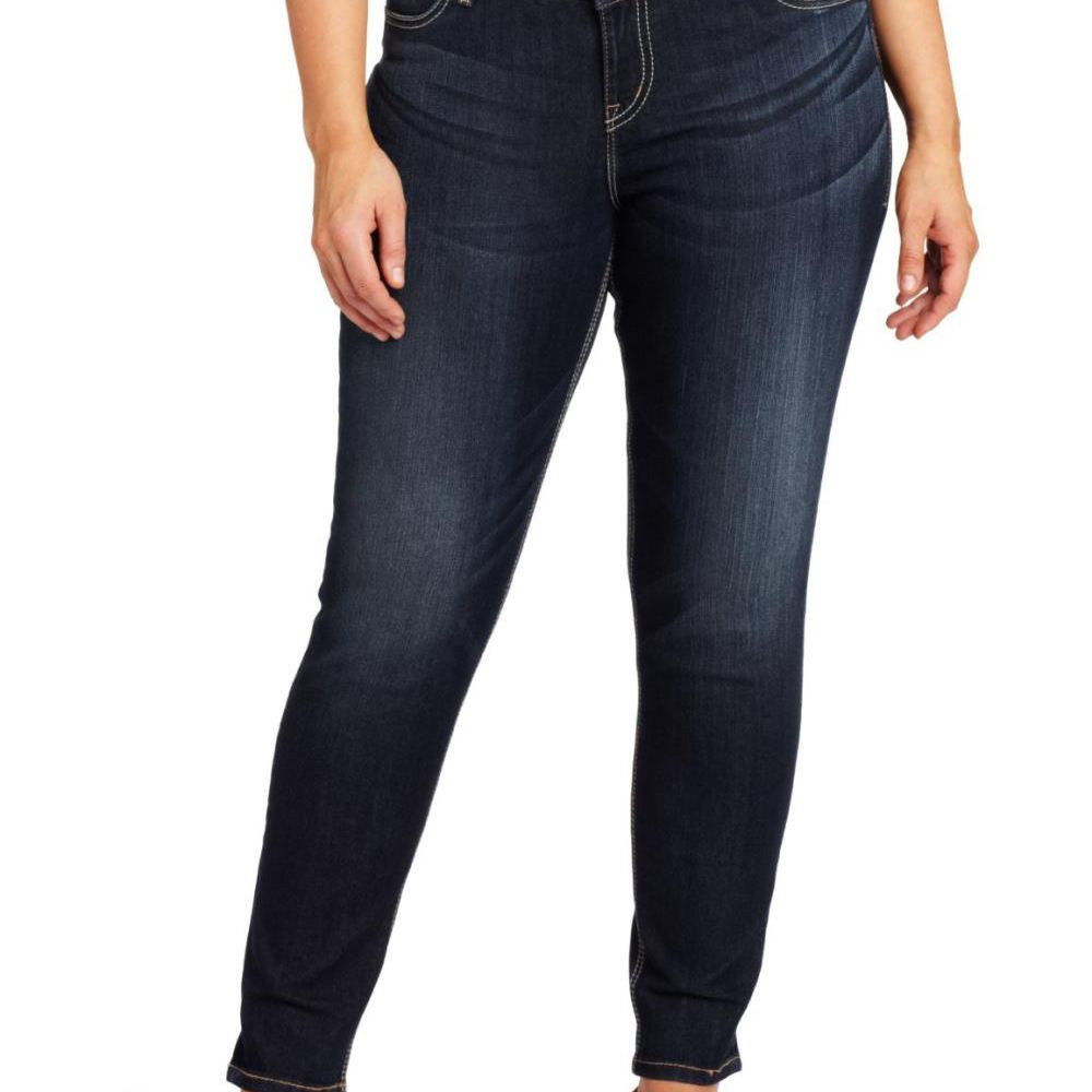 5ae5a1bf7 Silver Jeans Suki Mid-Rise Plus Size Skinny Jean