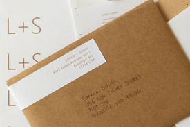 outgoing letter with an address label
