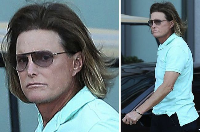 Bruce with ombre hair