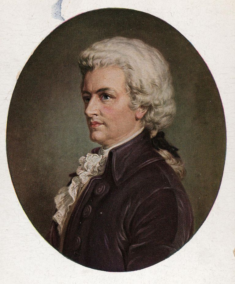 A portrait of Wolfgang Amadeus Mozart