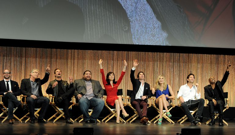 The Cast of 'Lost' during 10th Anniversary Reunion panel.