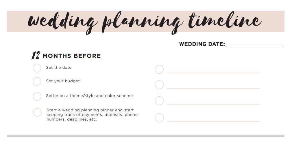 A beige wedding planning checklist