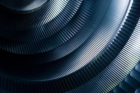 Abstract Detail of Round Metal Machinery